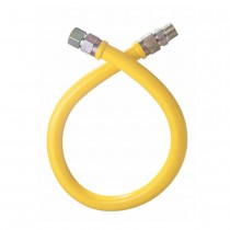 """1/2"""" Antimicrobial Yellow PVC Coated Connector for Stationary Equipment"""