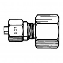 "3/4"" x  1/2"" Female Connector-Tube to Female Pipe"