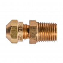 "1/2"" x 1/4"" Male Connector-Tube to Male Pipe"