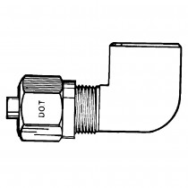 "3/8"" x 1/4"" Female Elbow 90°-Tube to Female Pipe"