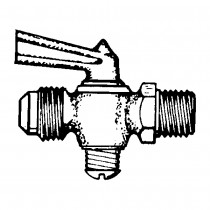 """1/4"""" x 1/8"""" Shut-off Cock Plug Type-Flare Tube to Male Pipe"""