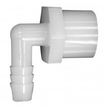 "1/2"" x 3/8"" 90° Elbow - Hose Barb to Female Pipe"