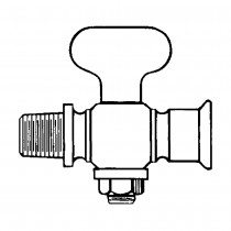 """1/4"""" Air and Steam Cock-Male and Female-Tee Handle-Round Shoulder"""