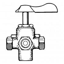"3/8"" x 2-3/8"" Shut-off Cocks Plug Type-Four Way Bracket Mounting"
