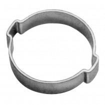 2-Ear Clamps-Zinc Plated-For Stainless Steel 3/16""