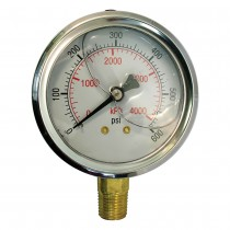 Glycerin Filled Pressure Guages-DP Series 0-1000 PSIG
