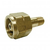 """F. CGA 555 Inlet x 1/4"""" MNPT Outlet Adaptor Assembly"""