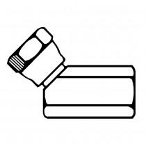 "1/8"" x 1/8"" Female Pipe Swivel Elbow 45° -To Female Pipe"