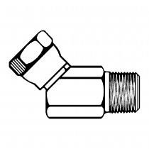 """1/2"""" x 1/2"""" Female Pipe Swivel Elbow 45° -To Male Pipe"""