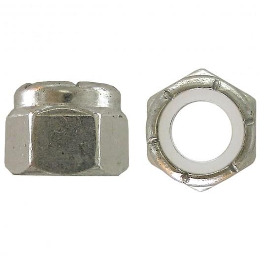 """1/4""""-20 18.8 Stainless Steel Nylon Insert Stop Nut-UNC"""