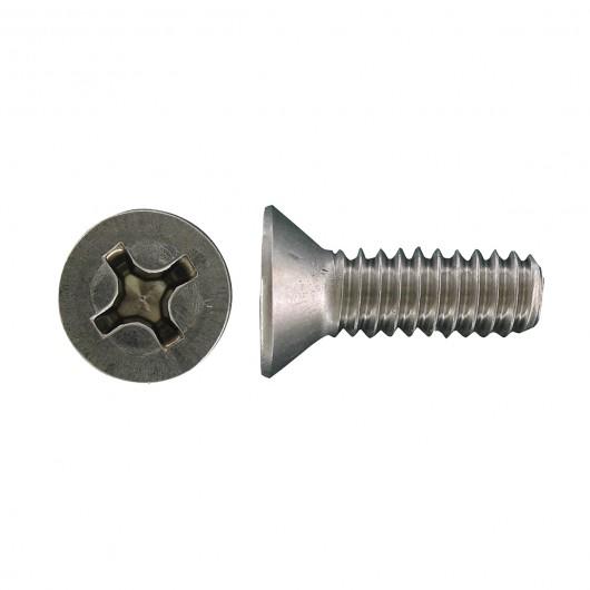 "8-32 x 1"" 18.8 Stainless Steel Flat Head Phillips Machine Screw"