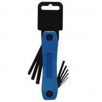 1.5, 2, 2.5, 3, 4, 5, 5.5, 6mm Folding Plastic Socket Key Sets