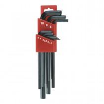 1.5, 2, 2.5, 3, 4, 5, 6, 8, 10 mm Long Arm Socket  Key Sets