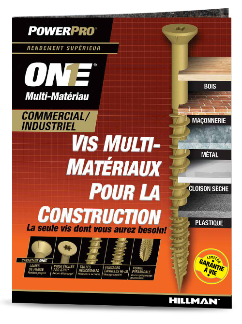 F117 Vis ONE® Brochure Commercial et Industriel